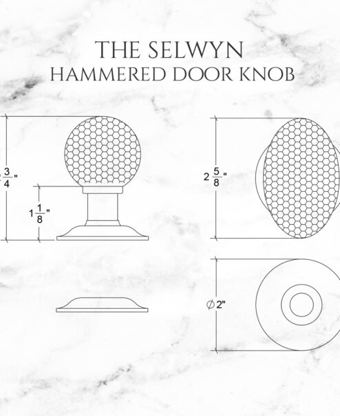 The Selwyn Hammered Door Knob