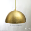 Brass Hammered Dome Pendant Light