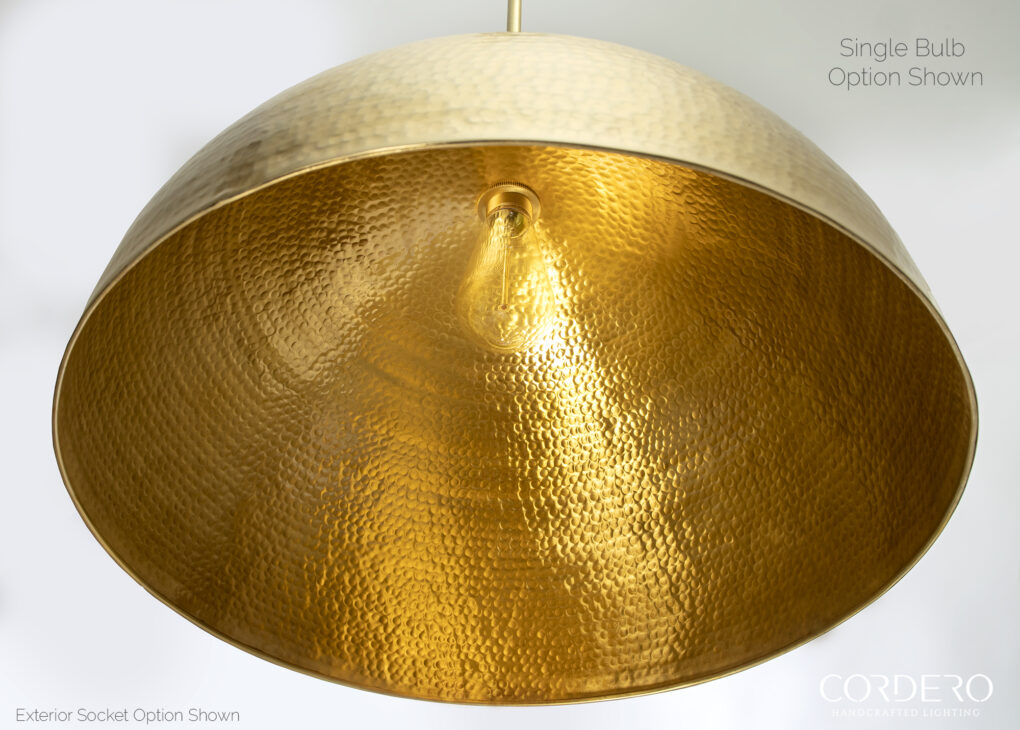 Brass Hammered Dome