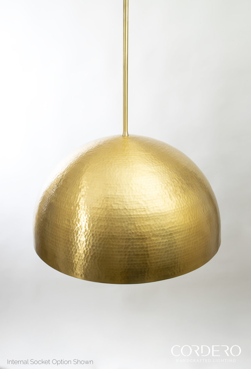 Hammered Dome Pendant Light