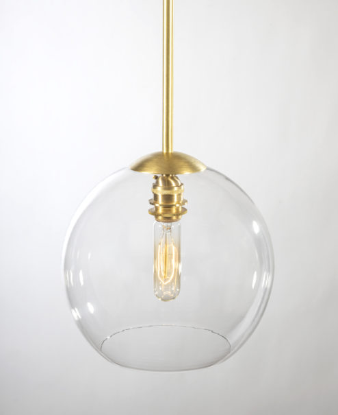 Brushed Brass Pendant Light