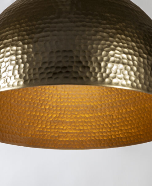 Bronze and Copper Hammered Light