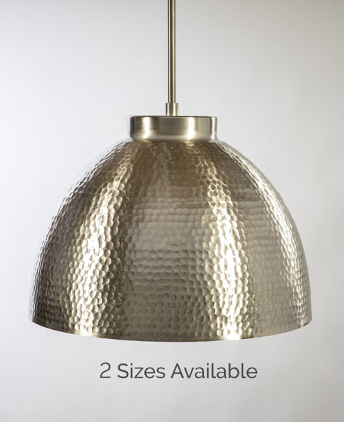 Brushed Nickel Hammered Duke Dome
