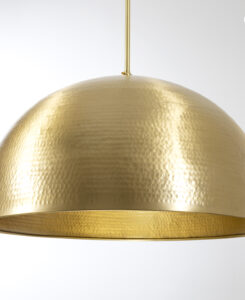 Brushed Brass Hammered Dome