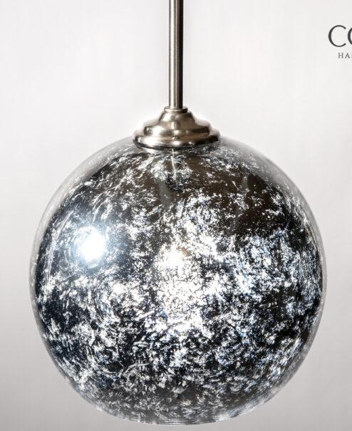 Mercury Glass Globe Pendant