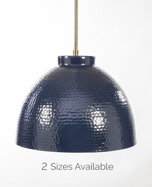Navy Hammered Duke Dome