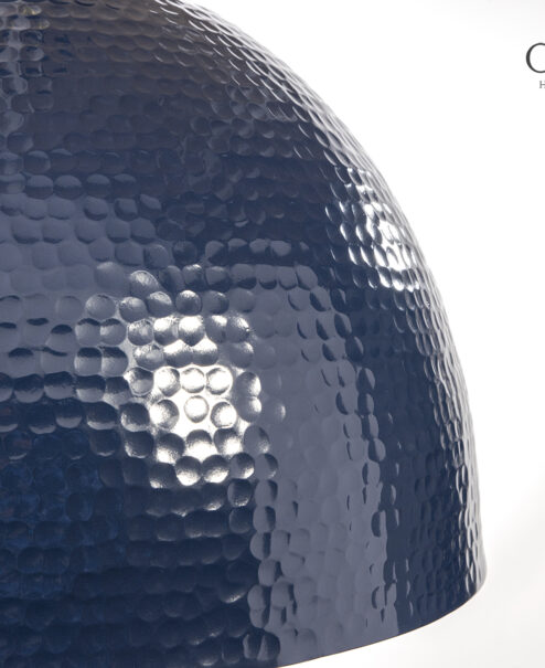 Navy Hammered Dome