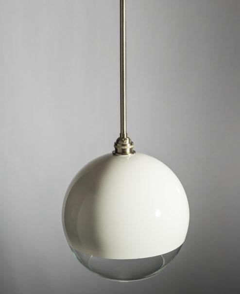 White Glass Globe Pendant