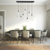 Dining room globe Chandelier