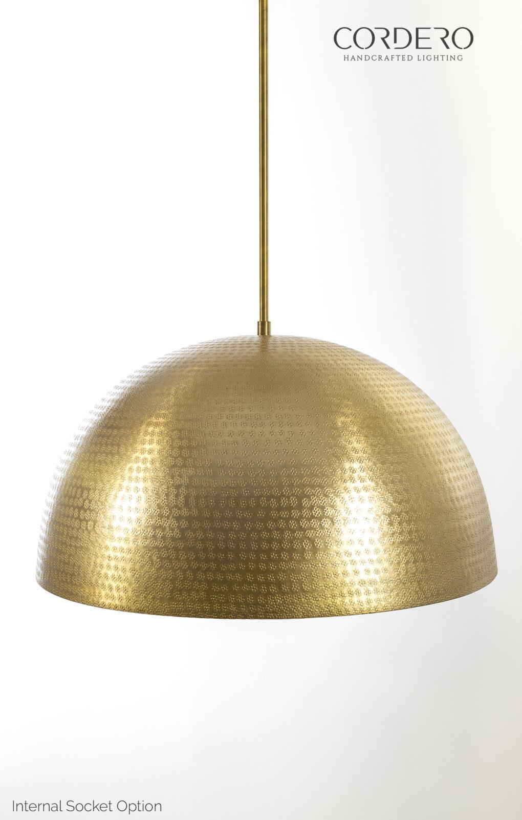 CB2 Brass Hammered Dome