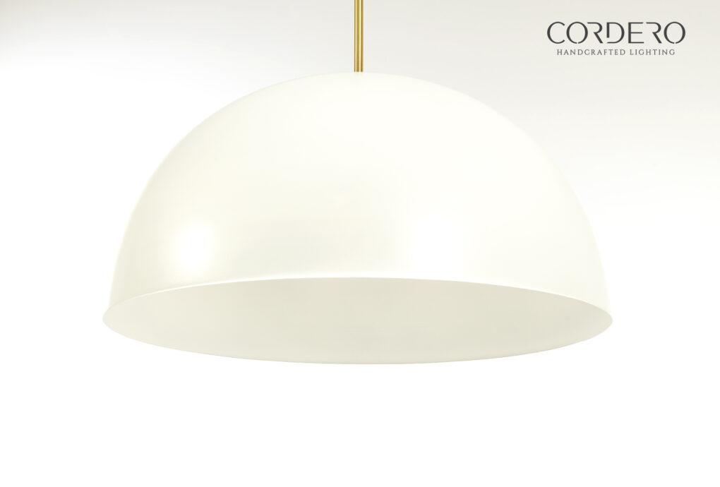 "24"" Liscio Dome Pendant Light Fixture"