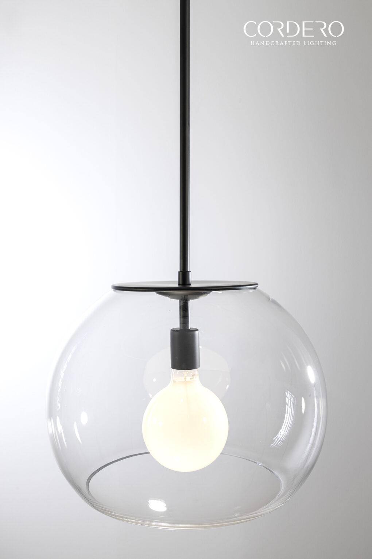 Oversized Glass Globe Pendant