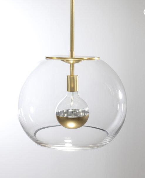 "16"" Brushed Brass Valentina Globe"